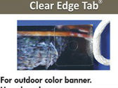 Banner Hang  CLEAR - EDGE  Power Tabs    100pc