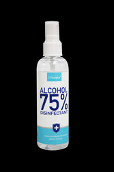 Spray DISINFECTANT 75% Alcohol - Spray On-Wipe Off   100Ml -3.4 Fl Oz Sold in case 96 bottles ( $5.00 ea)