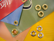 "Ace # 2 ---  3/8"" LONG BARREL Self Piercing Grommets  500   BRASS"
