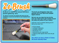 ZE- BRUSH   The Ultimate Cleaning Tool   Medical Grade  - With Dust Free Pouch    1 Brush