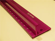 "NEW  Purple  TEK Edge Safety Ruler 28"", stainless steel edge"