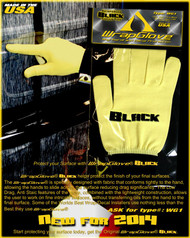 Professional Wrap Glove- Black Finger Tip  - Large  - 3 Pairs