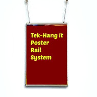 "Tek- Hang - It Poster Display System 34""  Top and Bottom Rails and Hooks ( 4 kits)"