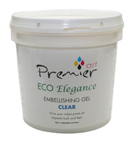 PremierArt Eco Elegance  Embellishing Gel  1 Gallon  Clear
