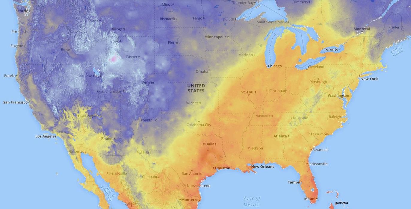 Envi Heater temperature change in New York