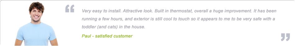 testimonial about wall mounted panel heaters