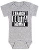 straight outta mommy baby onesie, nwa baby onsie, classic hip hop music, Straight Outta Compton, gangster rap, grey