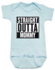 straight outta mommy baby onesie, nwa baby onsie, classic hip hop music, Straight Outta Compton, gangster rap, blue