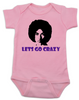 Prince baby onesie pink, Prince lets go crazy