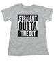 Straight Outta Time Out, Straight Outta toddler shirt, straight outta kid shirt, toddler time out shirt, nwa toddler shirt, straight outta timeout, grey