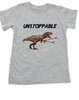 Unstoppable T-Rex dinosaur toddler shirt, T-Rex with grabbers, unstoppable trex, funny dinosaur toddler shirt, unstoppable dinosaur, trex toddler shirt, grey
