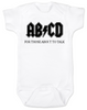 Ready to Rock Baby Gift Set, Rock and roll baby shower gift, ABCD baby onesie, for those about to talk, ACDC baby onesie