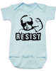 Resist Baby Onesie, protest baby onesie, Resist infant bodysuit, , funny political baby girl clothes, baby protester, anti-trump baby gift, blue