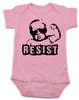 Resist Baby Onesie, protest baby onesie, Resist infant bodysuit, , funny political baby girl clothes, baby protester, anti-trump baby gift, pink