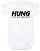 Hung like a 6 year old baby onesie, Hung baby onsie, big baby, offensive funny baby onesie