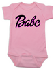 Babe baby onesie, little barbie girl baby onesie, Future babe, pink