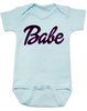Babe baby onesie, little barbie girl baby onesie, Future babe, blue
