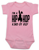 Hip Hop kind of guy baby onesie, hip hop kind of girl baby onesie, Cool Easter baby bodysuit, funny easter onsie, hip hop music baby onesie, Easter baby gift for hip parents, I'm a hip hop kind of guy, pink