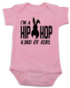 Hip Hop kind of guy baby onesie, hip hop kind of girl baby onesie, Cool Easter baby bodysuit, funny easter onsie, hip hop music baby onesie, Easter baby gift for hip parents, I'm a hip hop kind of girl, pink