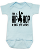 Hip Hop kind of guy baby onesie, hip hop kind of girl baby onesie, Cool Easter baby bodysuit, funny easter onsie, hip hop music baby onesie, Easter baby gift for hip parents, I'm a hip hop kind of girl, blue
