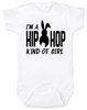 Hip Hop kind of guy baby onesie, hip hop kind of girl baby onesie, Cool Easter baby bodysuit, funny easter onsie, hip hop music baby onesie, Easter baby gift for hip parents, I'm a hip hop kind of girl