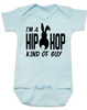 Hip Hop kind of guy baby onesie, hip hop kind of girl baby onesie, Cool Easter baby bodysuit, funny easter onsie, hip hop music baby onesie, Easter baby gift for hip parents, I'm a hip hop kind of guy, blue