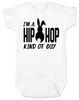 Hip Hop kind of guy baby onesie, hip hop kind of girl baby onesie, Cool Easter baby bodysuit, funny easter onsie, hip hop music baby onesie, Easter baby gift for hip parents, I'm a hip hop kind of guy