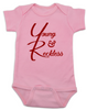 The young and reckless baby onesie, the young and the restless baby onesie, The Young & The Reckless, Young & Reckless babies, Soap Opera baby gift, pink