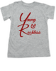 The young and reckless toddler shirt, the young and the restless toddler tshirt, The Young & The Reckless, Young & Reckless kids, Soap Opera toddler gift, grey