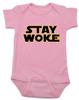 Stay Woke Star Wars Logo baby onesie, Pink