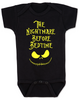 Nightmare before bedtime baby onesie, funny christmas baby clothes, nightmare before christmas, jack the pumpkin king, black and gold