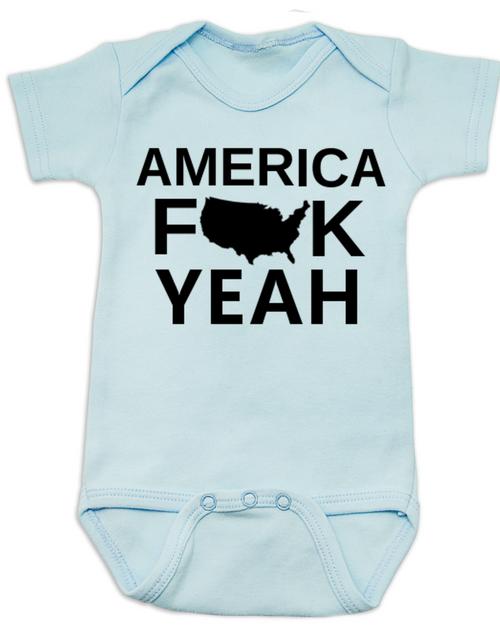 america fuck yeah baby onesie american pride funny patriotic baby onsie badass american - American Pride T Shirt