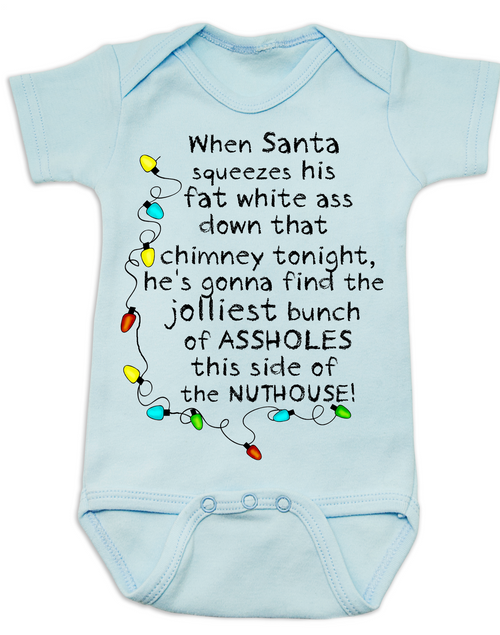 Ugly Christmas Baby Onesie