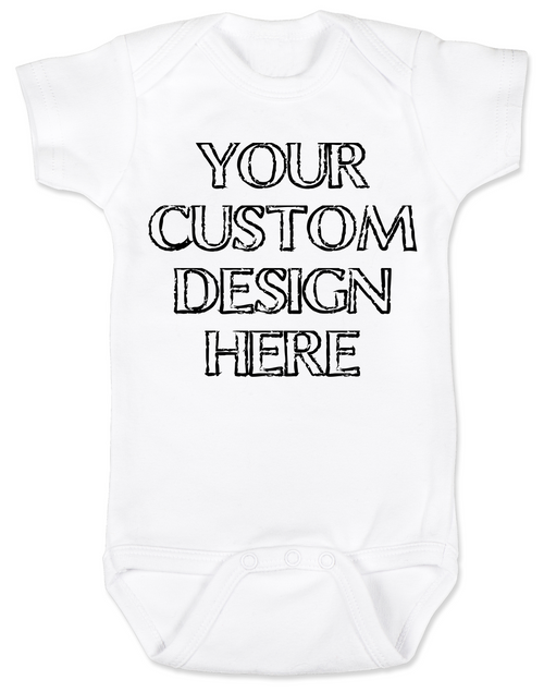 Design your own custom baby onesie, create your own infant bodysuit, Personalized baby onsie, One of a kind baby present, customized baby gift