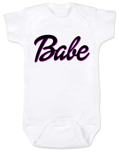 Babe baby onesie, little barbie girl baby onesie, Future babe