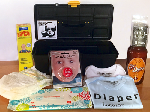 Daddy Diaper Tool Box, Father's Day gift set for new dads, Cool new Dad gift set, daddy diaper gift box with optional add-ons