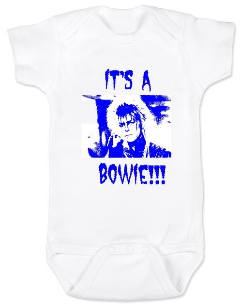 Bowie baby onesie
