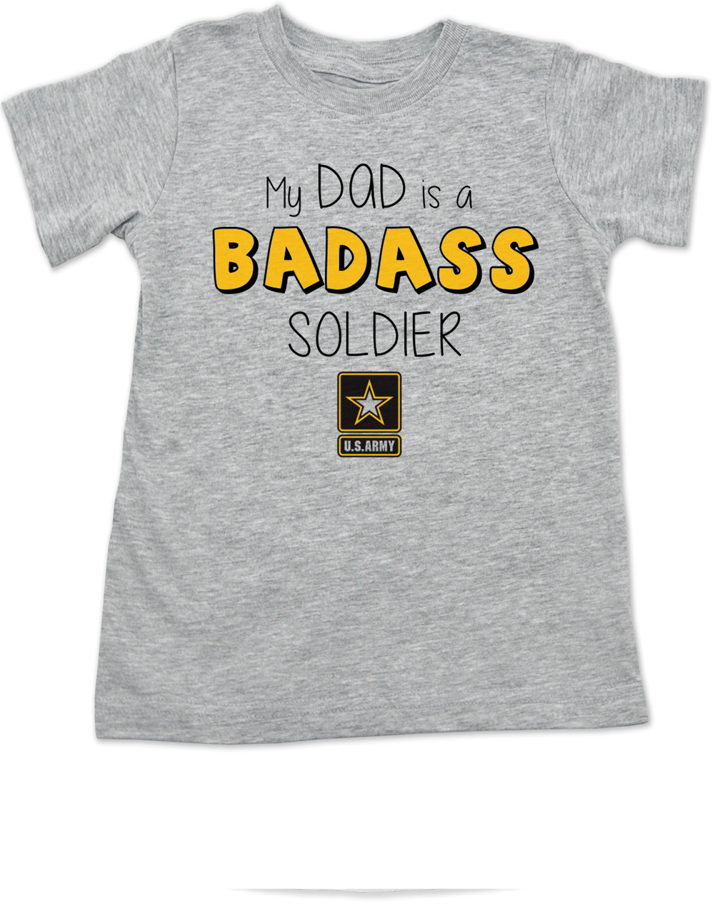 Badass mom dad toddler shirt for Custom military unit t shirts