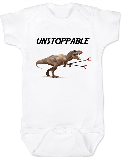 Unstoppable T Rex Baby Onesie