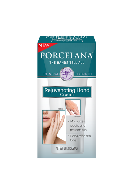 Porcelana Rejuvenating Hand Cream • Moisturizes and improves elasticity reducing the skin's leathery texture • Helps restore the skin's natural protective barrier • Antioxidants and vitamins help prevent further skin damage caused by UV exposure • Reduces hyperpigmentation • Helps restore a more even skin tone • Lightens dark spots • Brightens skin