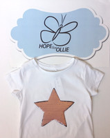 T-shirt (Reversible Sequin Pink Star)
