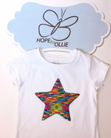 T-shirt (Reversible Sequin Multi-Coloured Star)