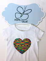 T-shirt (Reversible Sequin Multi-Coloured Heart)