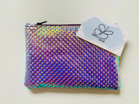 Zip Pouch - Holographic Silver
