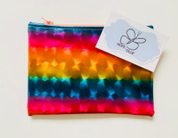 Zip Pouch - Holographic Rainbow