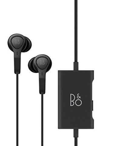 BeoPlay E4 Premium Earphones with Hybrid Active Noise Cancellation (Black)