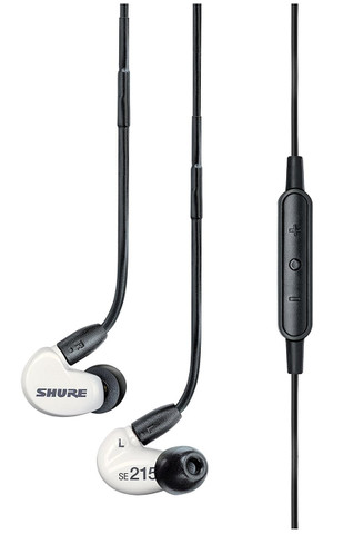 Shure SE215m+ (Special Edition White)