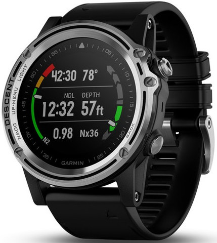 Garmin Descent MK1 (Silver Sapphire with Black Band)