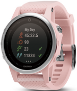 Garmin Fenix 5S Pink Meringue Sapphire with Pink Band (42mm Diameter )