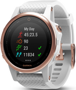 Garmin Fenix 5S Rose Gold Sapphire with White Band (42mm Diameter )